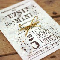 Egyedi Esküvői meghívó - Kód 01