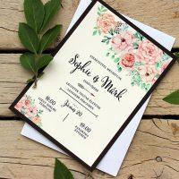 Egyedi Esküvői meghívó Székelyudvarhely - Kód 010