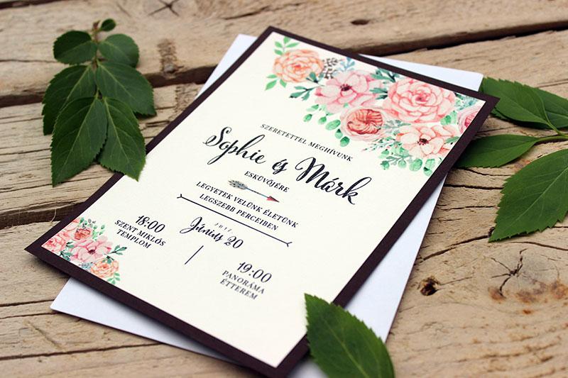 Esküvői meghívó 010