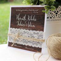 Egyedi Esküvői meghívó Székelyudvarhely - Kód 012
