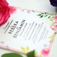 Egyedi Esküvői meghívó Székelyudvarhely - Kód 013