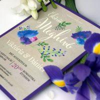 Egyedi Esküvői meghívó Székelyudvarhely - Kód 014