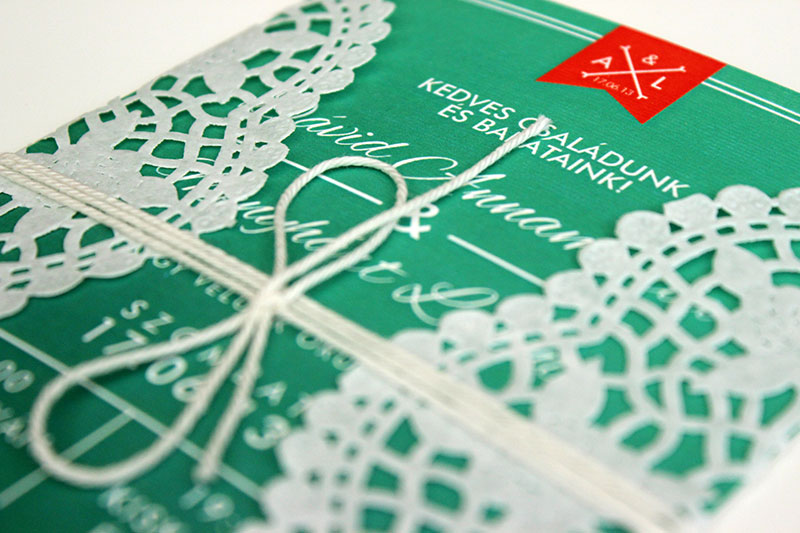 Zöld esküvői meghívó