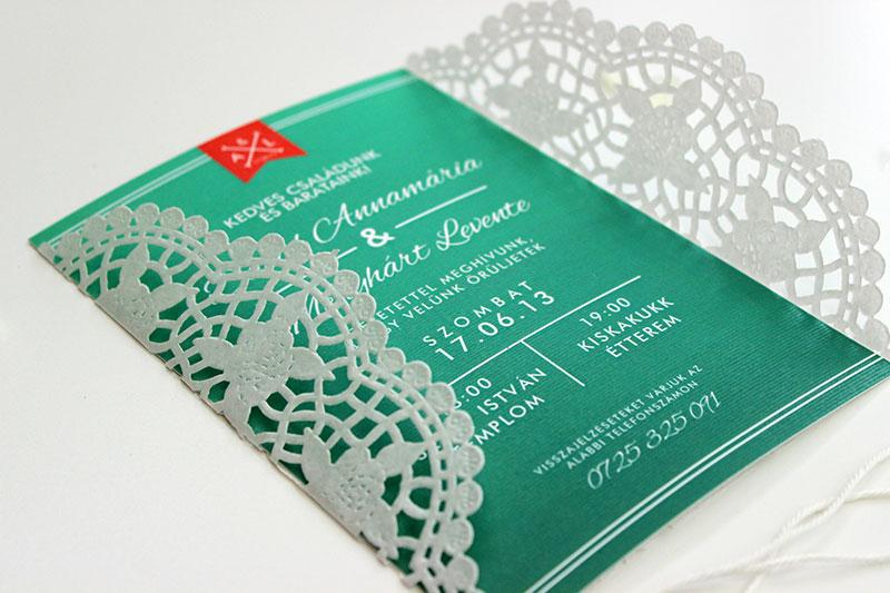 Esküvői meghívó - Kód 015
