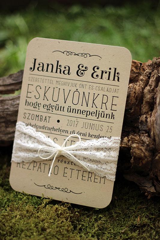Esküvői meghívó - Kód 016
