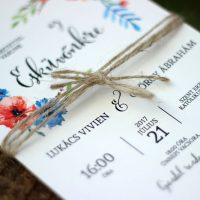 Esküvői meghívó - Kód 017
