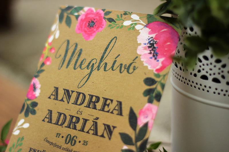 Esküvői meghívó - Kód 018