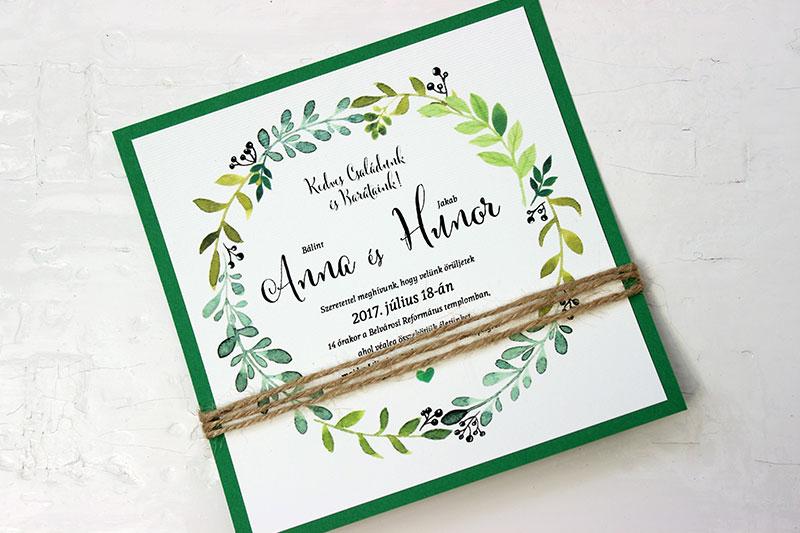 Esküvői meghívó - Kód 02