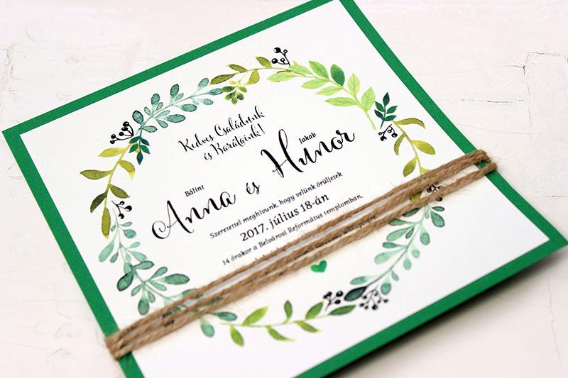 Kocka esküvői meghívó