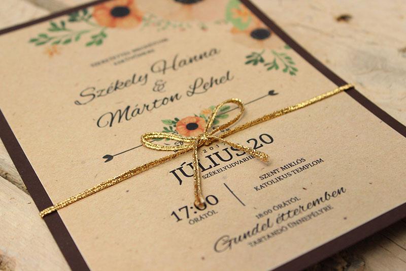 Esküvői meghívó - Kód 03
