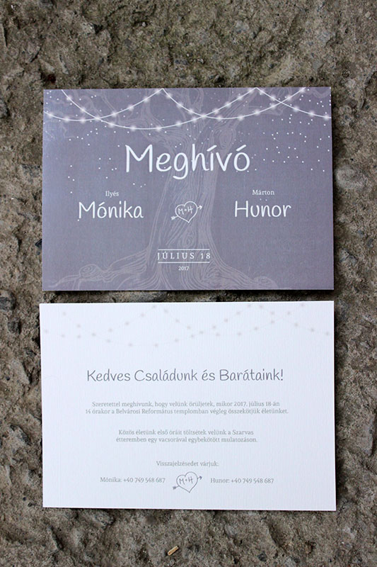 Esküvői meghívó - Kód 04
