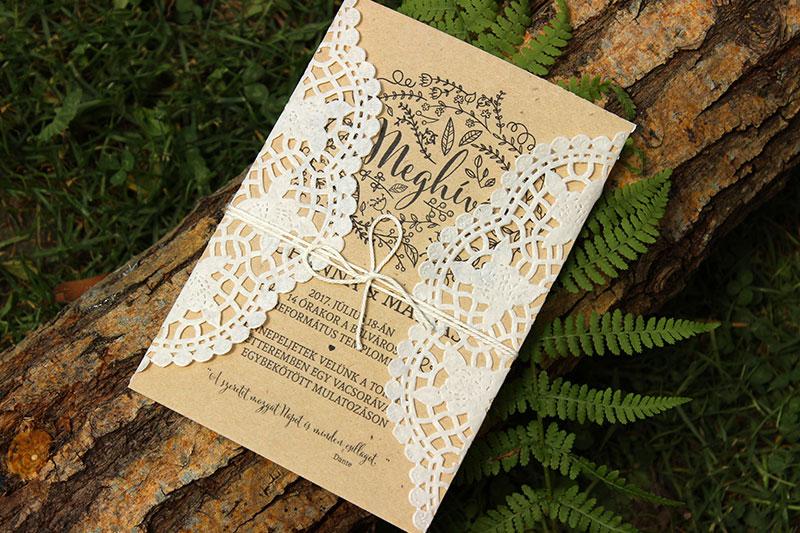 Esküvői meghívó - Kód 06