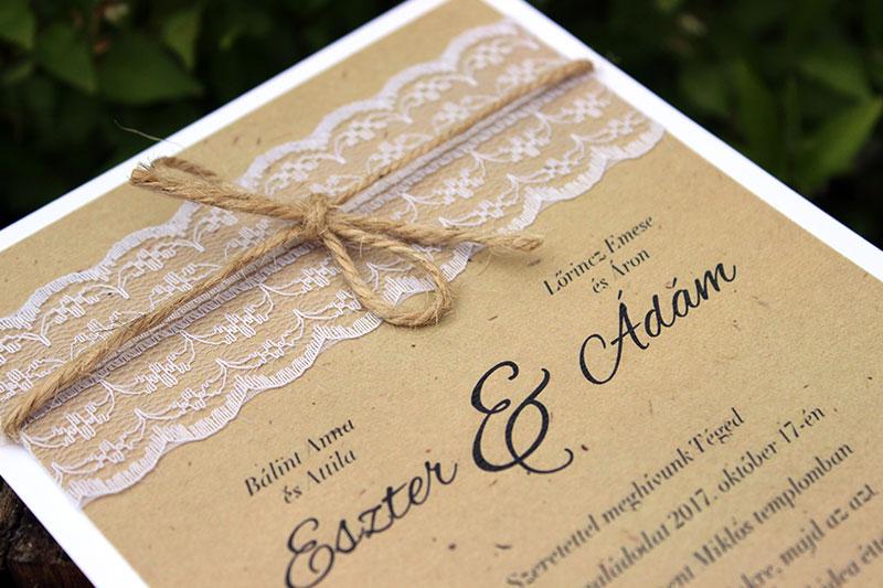 Esküvői meghívó - Kód 09