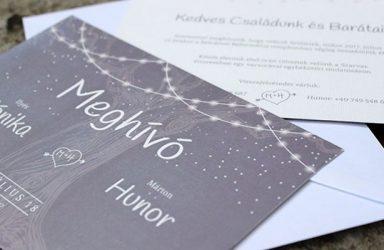 Egyedi esküvői meghívó Mónika