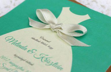 Egyedi esküvői meghívó Melinda