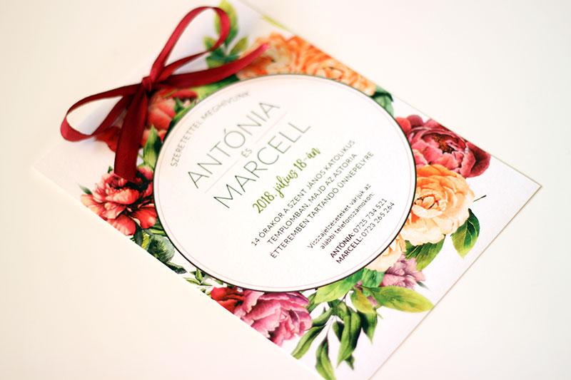 Egyedi Esküvői meghívó Székelyudvarhely - Kód 020