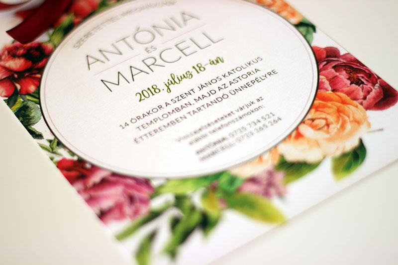 Esküvői meghívó - Kód 020