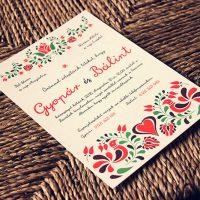 Egyedi Esküvői meghívó - Kód 021