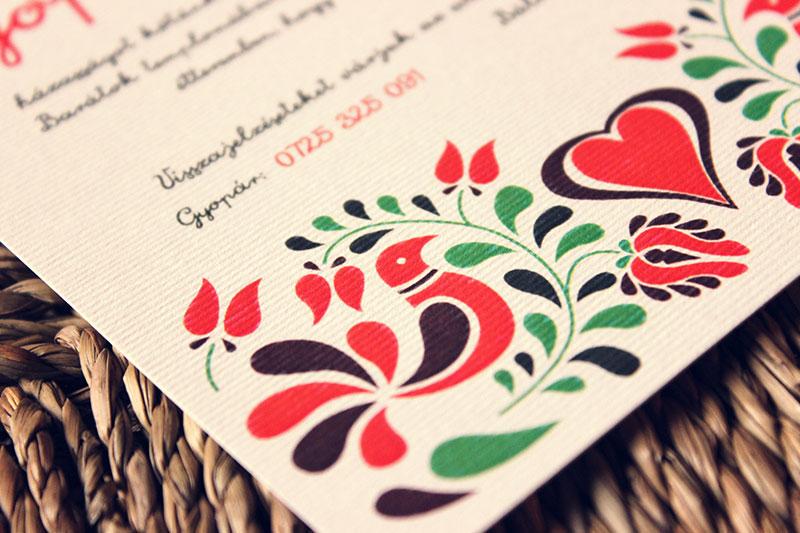 Esküvői meghívó - Kód 021