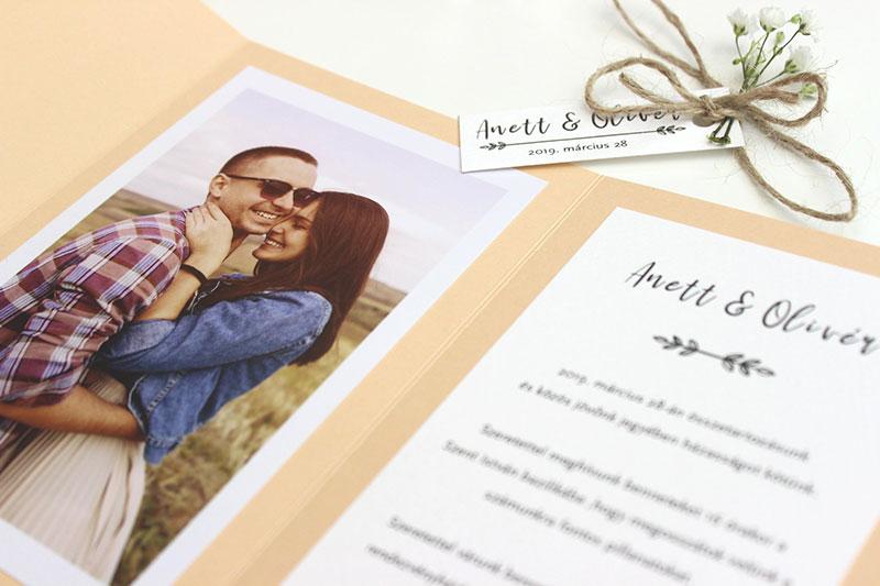 Esküvői meghívó - Kód 023