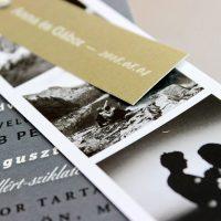 Modern - fotós Esküvői meghívó - Kód 024