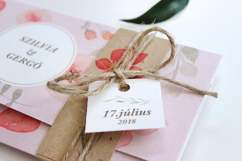 Esküvői meghívó - Kód 025