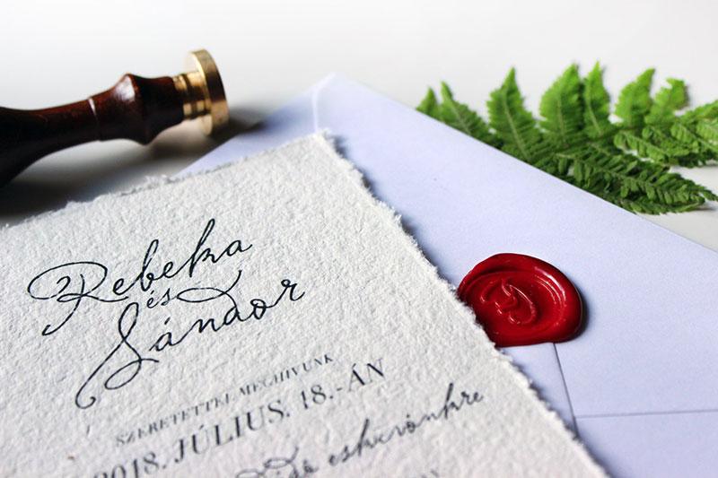 Esküvői meghívó - Kód 026