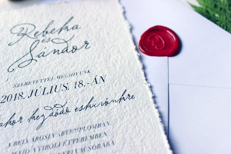 Retró Esküvői meghívó - Kód 026