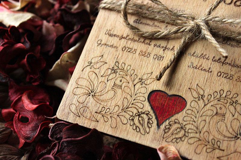 Egyedi Esküvői meghívó Székelyudvarhely - Kód 028