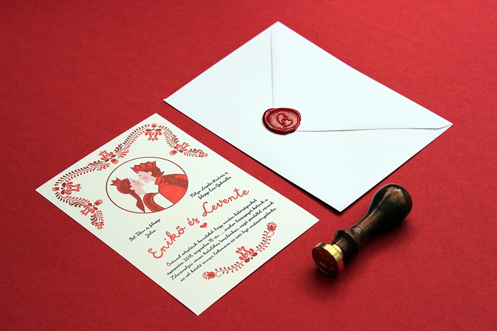 Enikő és Levente esküvői meghívó