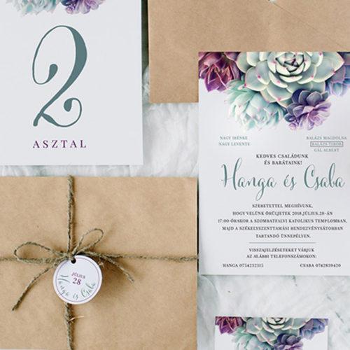 Hanga és Csaba esküvői arculat terv