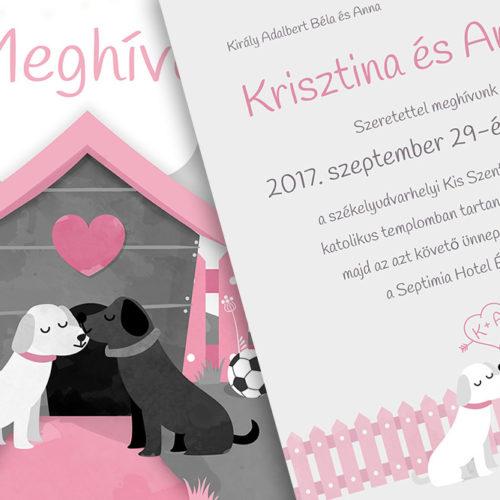 Krisztina és András esküvői meghívója