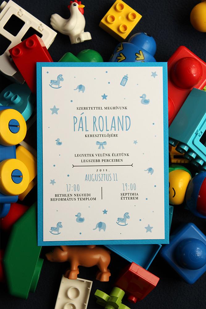 Roland keresztelő meghívója