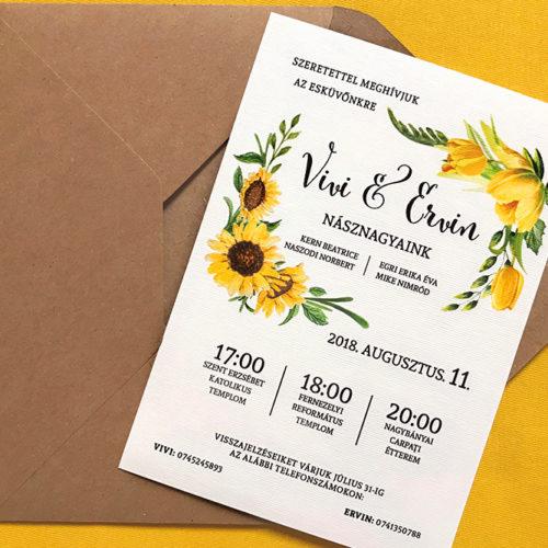 Vivi és Ervin esküvői meghívója