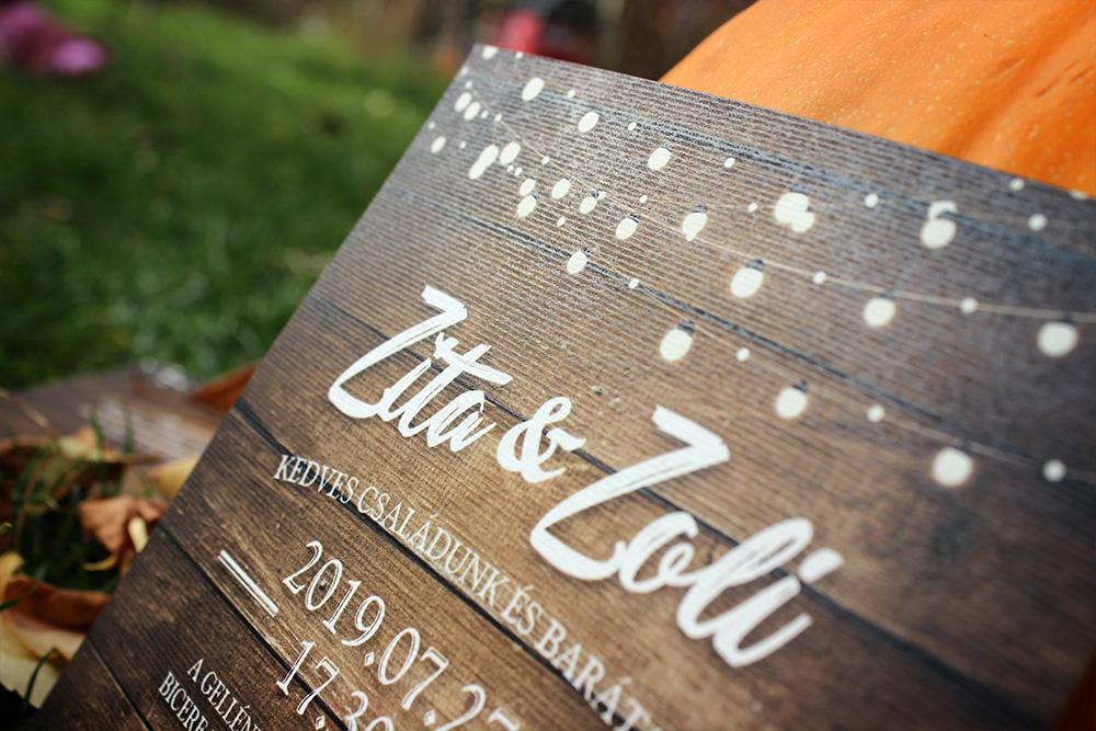 Zita és Zoli esküvői meghívója