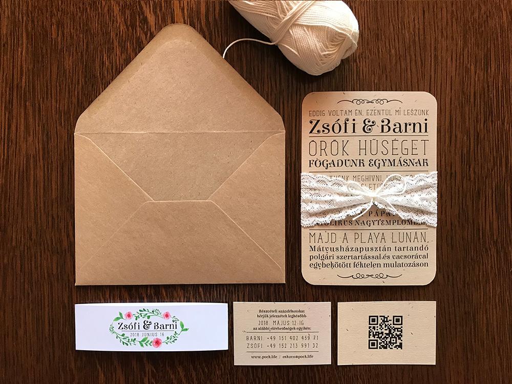 Zsófi és Barni esküvői arculat terv