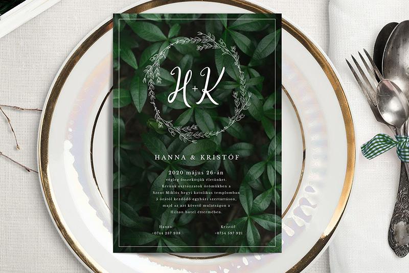 Egyedi Esküvői meghívó Kód 032