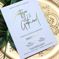 Lézer Gravírozott - Fa Esküvői meghívó - Kód 028