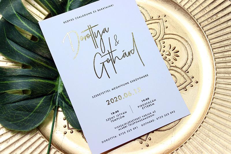 Egyedi Esküvői meghívó Kód 033