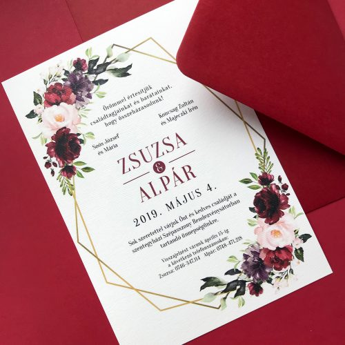 Zsuzsa és Alpár esküvői meghívó