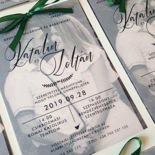 Katalin és Zoltán esküvői meghívó