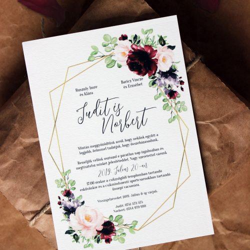 Judit és Norbert esküvői meghívó