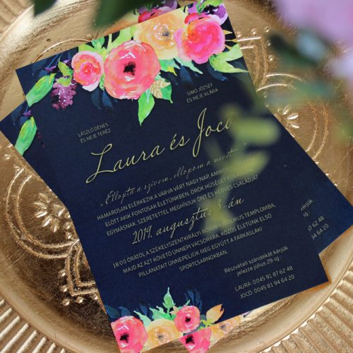 Laura és Jocó esküvői meghívó
