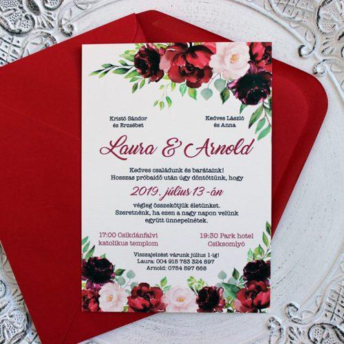 Laura és Arnold esküvői meghívó