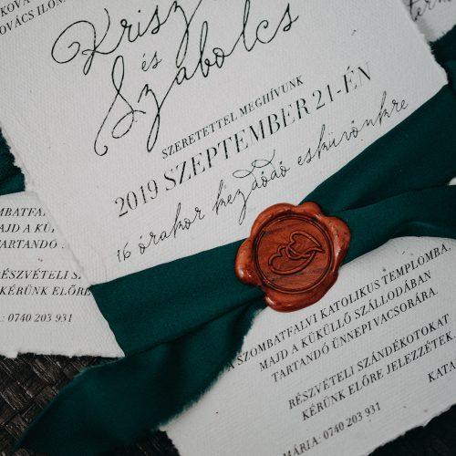 Krisztina és Szabolcs esküvői meghívó
