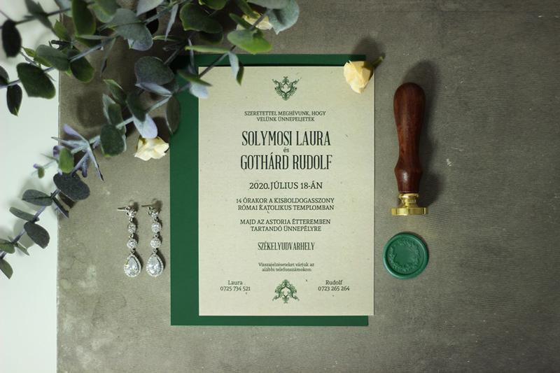 Egyedi Esküvői meghívó Székelyudvarhely - Kód 037