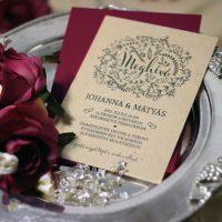 Egyedi Esküvői meghívó Székelyudvarhely - Kód 038